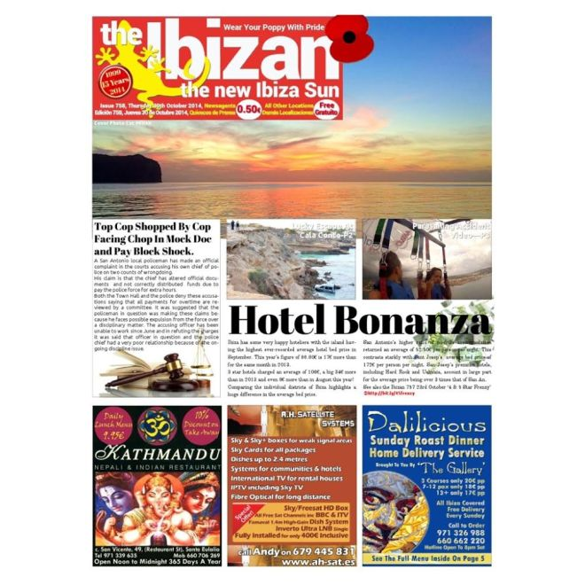 iPhone image by Cat Milton is the Cover Image for The Ibizan newspaper