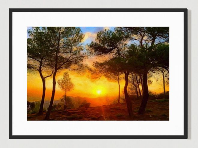 Ibiza Sunrise. Limited Edition print by Cat Milton
