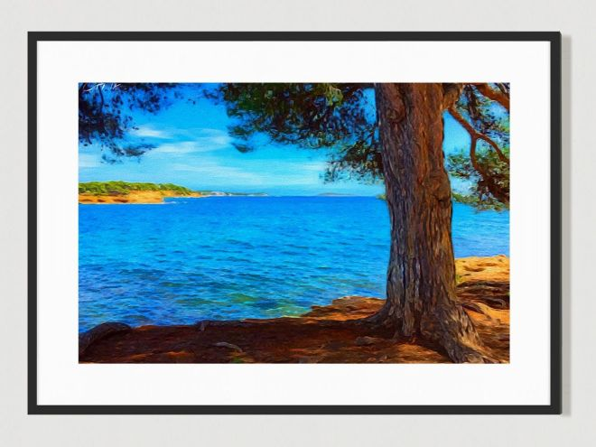 Ibiza View. Limited Edition print by Cat Milton