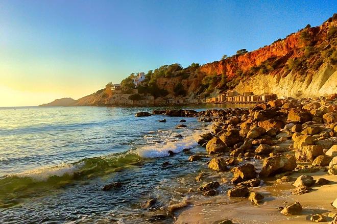 Beach sunset - winter Ibiza. iPhone 5S © Cat Milton