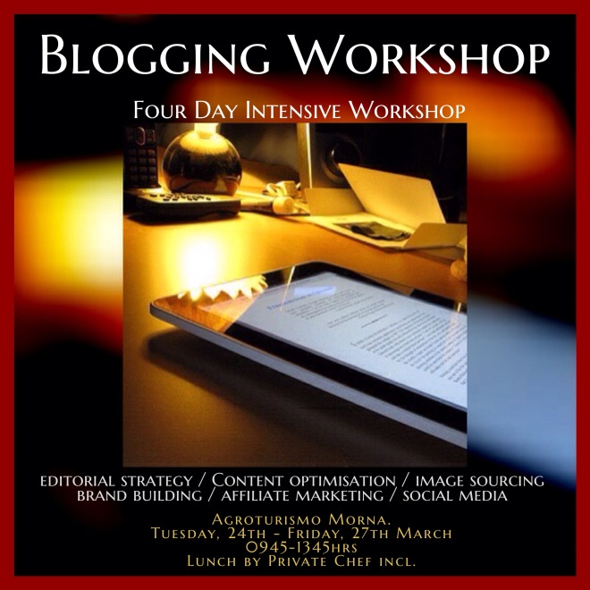 Blogging Excellence Workshop, Ibiza